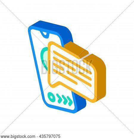 Call Communication Isometric Icon Vector. Call Communication Sign. Isolated Symbol Illustration