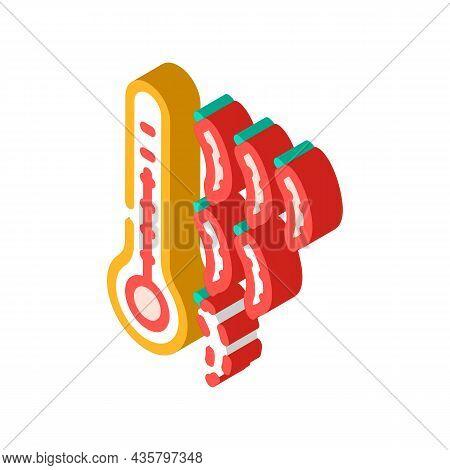 Chilli Pepper Scale Isometric Icon Vector. Chilli Pepper Scale Sign. Isolated Symbol Illustration