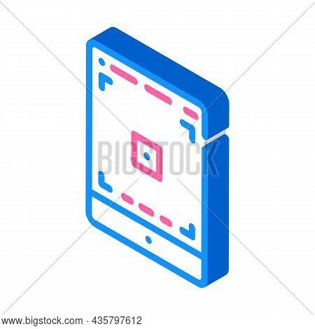 Tablet Photo Camera App Isometric Icon Vector. Tablet Photo Camera App Sign. Isolated Symbol Illustr