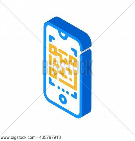 Qr Code Scanner Isometric Icon Vector. Qr Code Scanner Sign. Isolated Symbol Illustration
