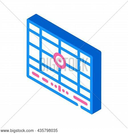 Dividing Grid Isometric Icon Vector. Dividing Grid Sign. Isolated Symbol Illustration