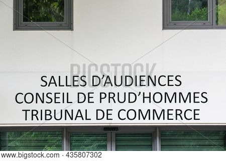 Courtrooms, Labour Court And Commercial Court Building In France Called Salles D'audiences, Conseil