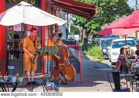 New Orleans, La - October 9: Robert Wagner And James Singleton Perform At Bywater Bakery On October