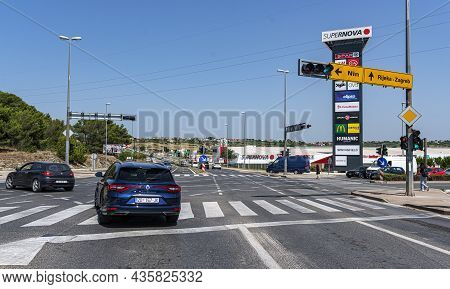 Zadar, Croatia - July 29, 2021: Streets And Roads Of The City Of Zadar, Croatia.