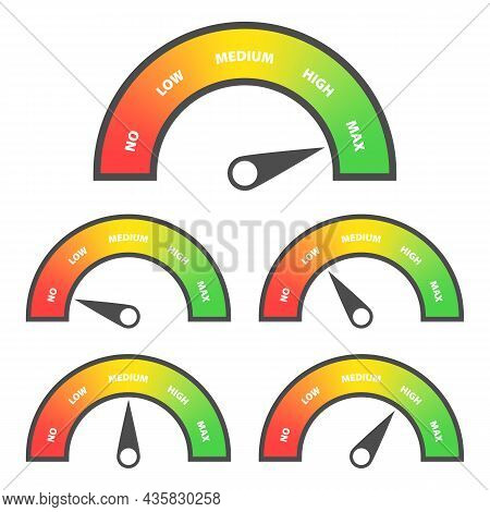 Credit Score Rating Scale With Pointer. Bad Or Good Indicators With Scale And Rate Credit Rating Rep
