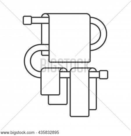 Bath Heated Towel Rail Icon. Outline Bath Heated Towel Rail Vector Icon For Web Design Isolated On W