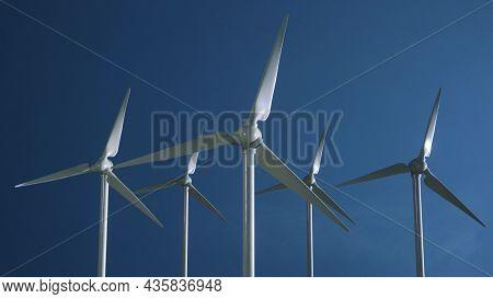 Wind Turbine Generator Wind Energy Plant Power Turbine. Wind Power Renewable Electric Energy Product