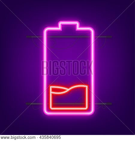 Discharged Battery. Battery Charge Level Indicators. Vector Illustration