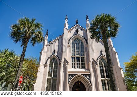 Huguenot Church In Charleston, South Carolina. This Is A National Historic Landmark