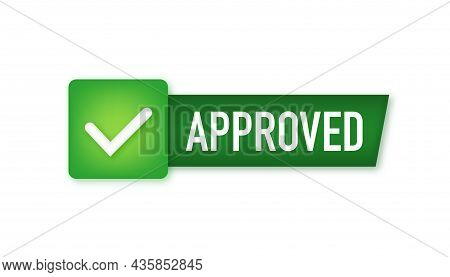 Approved Medal. Round Stamp For Approved And Tested Product, Software And Services. Vector Stock Ill
