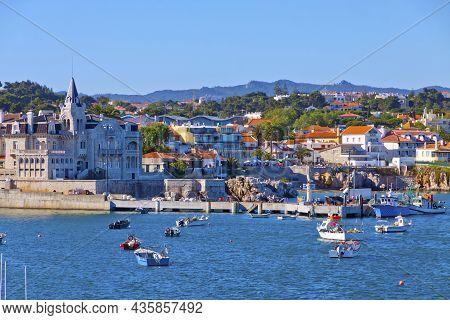 Bay Of Cascais, Lisbon, Portugal. Cascais Is A Municipality In The Lisbon District. Famous Tourist D