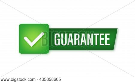 Guarantee Stamp Vector Isolated On White Background. Vector Stock Illustration