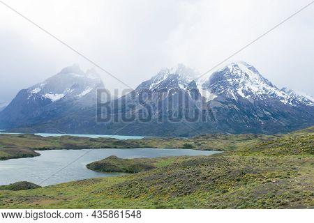 Chilean Patagonia Landscape, Torres Del Paine National Park, Chile.