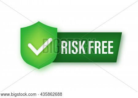 Risk Free, Guarantee Label On White Background. Vector Illustration