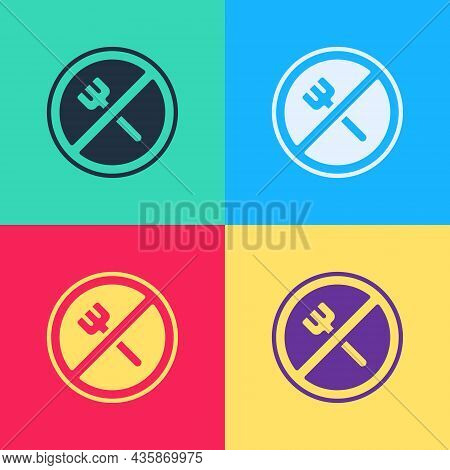 Pop Art Ramadan Fasting Icon Isolated On Color Background. Religious Fasting. Vector