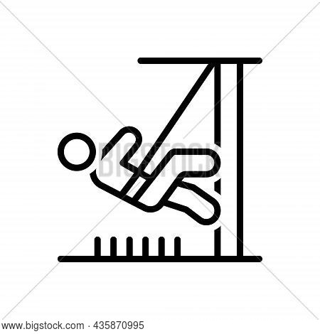 Black Line Icon For Dare Daresay Make-bold Brave Stunt Feat Daring Activity Climber
