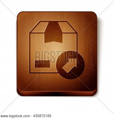 Brown Carton Cardboard Box Icon Isolated On White Background. Box, Package, Parcel Sign. Delivery An