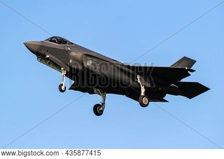 Lockheed Martin F-35 Lightning Ii Stealth Multirole Combat Aircraft From The Royal Netherlands Air F