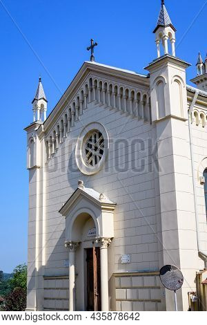 Roman Catholic Church In The Medieval Citadel In The Old Center Of Sighisoara, A Unesco World Herita