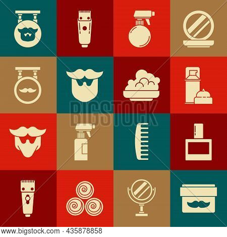 Set Cream Or Lotion Cosmetic Jar, Aftershave, Shaving Gel Foam, Hairdresser Pistol Spray Bottle, Mus