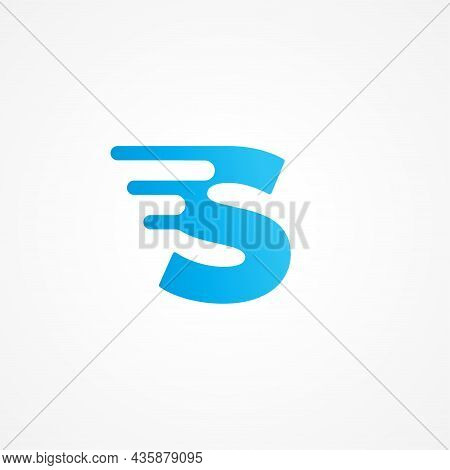 Vector Illustration Of Letter S Streaking With Fluid Effect. Initial Alphabet Logo Design Template F