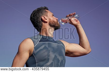 Man Need Hydration. Sports And Healthy Lifestyle Routine. Water Balance In Body. Athlete Feel Thirst