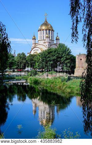 Sfantul Ioan Botezatorul Orthodox Cathedral In The Center Of Fagaras City, In Transylvania (transilv