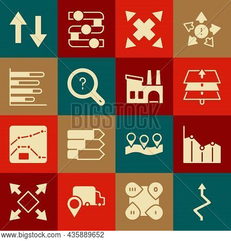 Set Arrow, Pie Chart Infographic, Layers, Many Ways Directional Arrow, Unknown Search, And Factory I