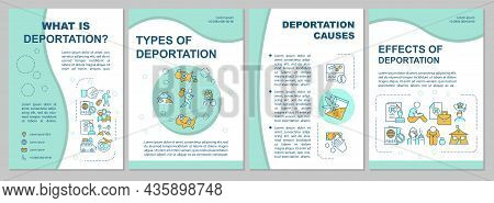 Deportation Process Brochure Template. Types And Causes. Flyer, Booklet, Leaflet Print, Cover Design
