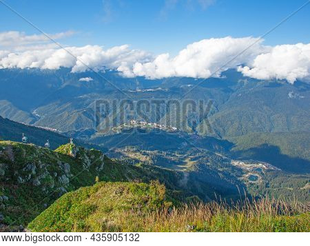 Beautiful View Of Mountain Ranges At Daylight