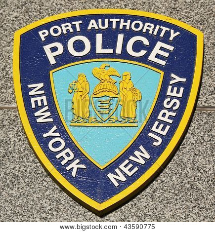 Port Authority Police New York New Jersey emblem on fallen officers memorial