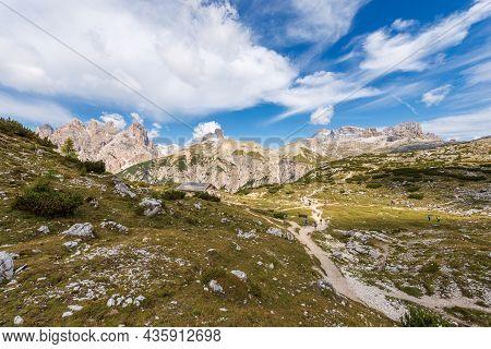 Sesto Or Sexten Dolomites View From The Tre Cime Di Lavaredo, Dolomiti Di Sesto Natural Park, Unesco