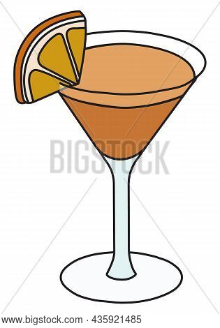 Tipperary Classic New Era Cocktail In Specific Glass. Irish Whiskey, Aperol And Vermouth Based Drink