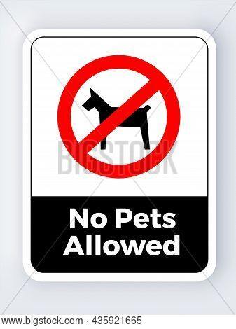 No Pets Allowed Sign Icon Symbol Pictogram