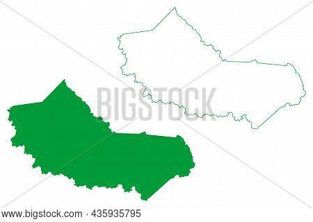 Macajuba Municipality (bahia State, Municipalities Of Brazil, Federative Republic Of Brazil) Map Vec