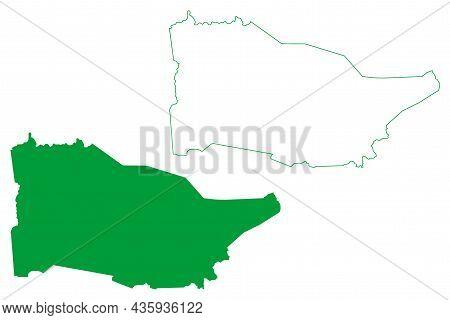 Mairi Municipality (bahia State, Municipalities Of Brazil, Federative Republic Of Brazil) Map Vector