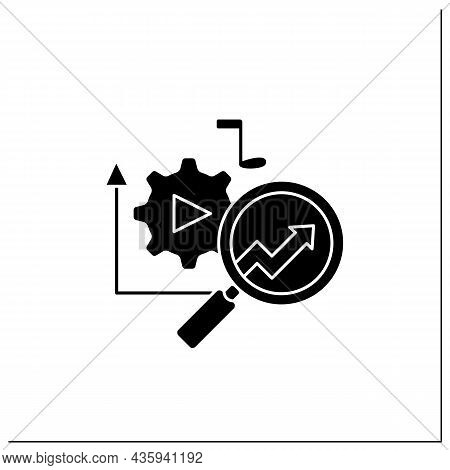 Media Technology Glyph Icon.predictive Analytics In Media. Research Perfect Customer Products.influe