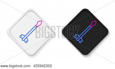Line Medieval Arrows Icon Isolated On White Background. Medieval Weapon. Colorful Outline Concept. V
