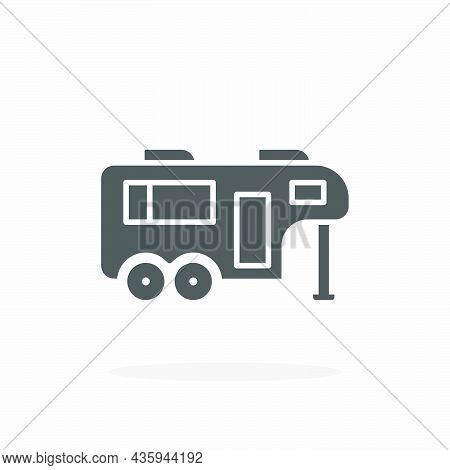 Caravan Icon. Glyph Or Solid Style. Vector Illustration. Enjoy This Icon For Your Project.