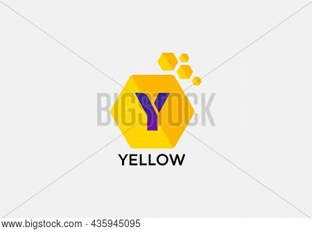 Yellow Abstract Y Letter Modern Initial Logo Design