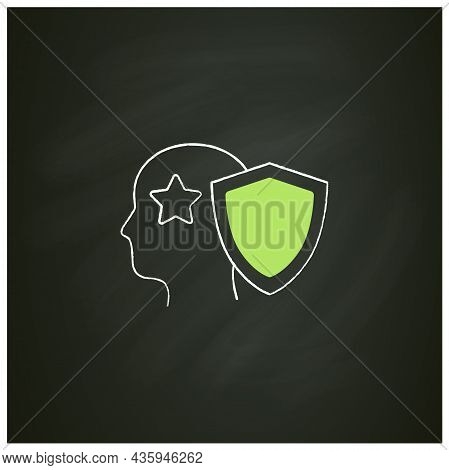 Intellectual Property Chalk Icon. Copyright. Intangible Creations. Law Protects. Asset Management Co