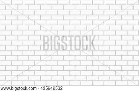 White Rectangle Ceramic Wall Tile Background. Geometric Template Design Texture For Decoration Of Th