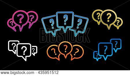 Quiz Marks. Inquiry Questions Mark Set, Knowledge Faq Secret Quest Mobile Games Icons, Questionning
