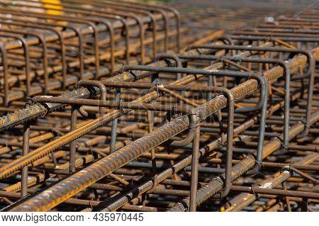 Rusty Steel Rods. Rusty Metal Background.metal Background