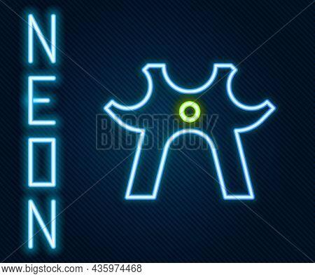 Glowing Neon Line Billiard Rest Icon Isolated On Black Background. Pool Cue Helper Stick, Bridge Sti