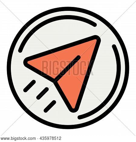 Send Car Service Message Icon. Outline Send Car Service Message Vector Icon Color Flat Isolated