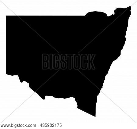 Vector New South Wales - Australia Map Illustration. An Isolated Illustration Of New South Wales - A