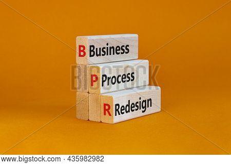 Bpr Business Process Redesign Symbol. Concept Words Bpr Business Process Redesign On Blocks On A Bea
