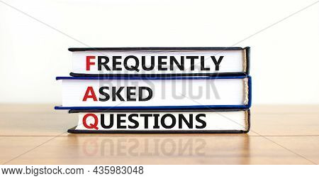 Faq Frequently Asked Questions Symbol. Concept Words 'faq Frequently Asked Questions' On Books On A