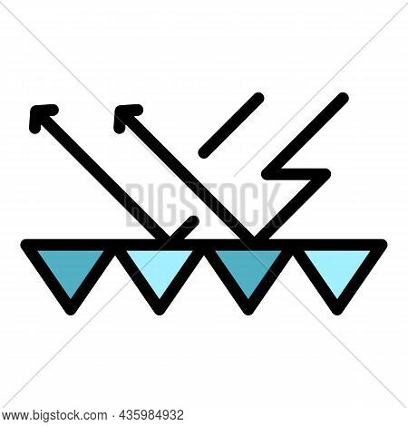 Noise Barrier Icon. Outline Noise Barrier Vector Icon Color Flat Isolated